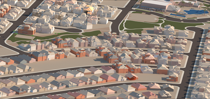 Fig 1 - Housing Development in 3ds Max